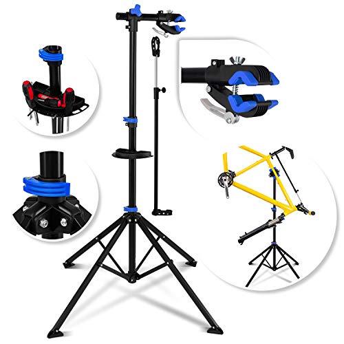 KESSER® Fahrradmontageständer Profi Reparaturständer Fahrradständer, robuster Fahrradreparaturständer bis 30 kg Fahrrad Montageständer inkl. Werkzeugschale + Magnetfach, 360° drehbar Mountainbike