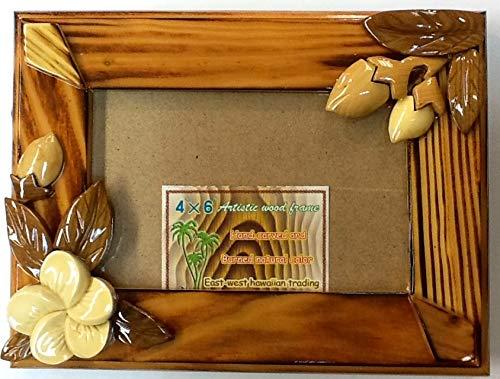 Wooden Hawaiian Design Picture Frame 4'x6'