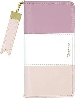 Plus-S 【Elegante Tricolor】 HUAWEI P20 lite ケース 手帳型 【01.マカロンモーヴ】 カード収納 ミラー付き チャーム付き マグネット内蔵 全6色