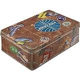 Nostalgic-Art Retro Vorratsdose Flach Pan Am – Travel Stickers – Geschenk-Idee für...