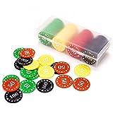 Youkoll Small Plastic Poker Chips Set with Case for Texas Holdem Poker Game, Casino Equipment, Fichas De Poker Chip Tray, Poker Kit Cheap