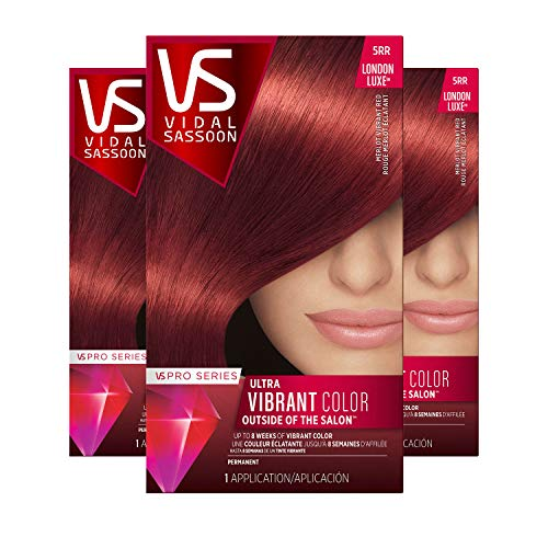 Vidal Sassoon Pro Series, 5RR Medium Vibrant Red, 3 Count