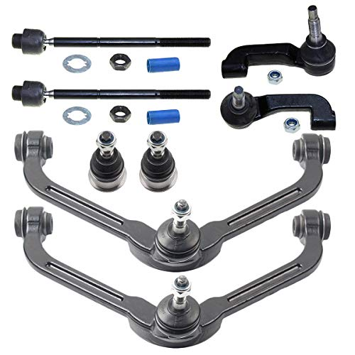 DLZ 8 Front Suspension Kit-2 Upper Control Arm Ball Joint Assembly 2 Lower Ball Joint 2 Inner 2 Outer Tie Rod End Compatible with 2002 2003 2004 Jeep Liberty K3199 ES3536 ES3535 EV402 K3198