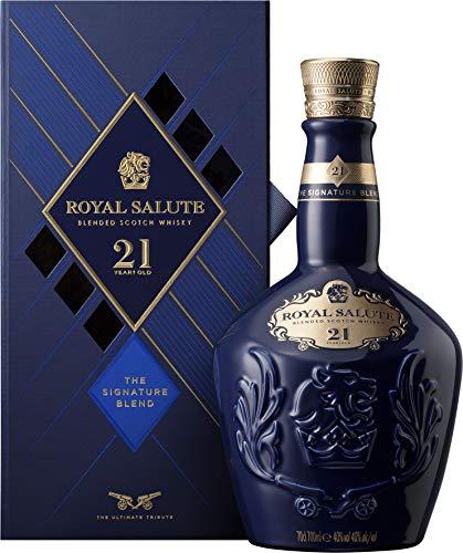 Chivas Regal Royal Salute Blended Scotch Whisky - Whisky Escocés de Malta, 21 Años, 700 ml