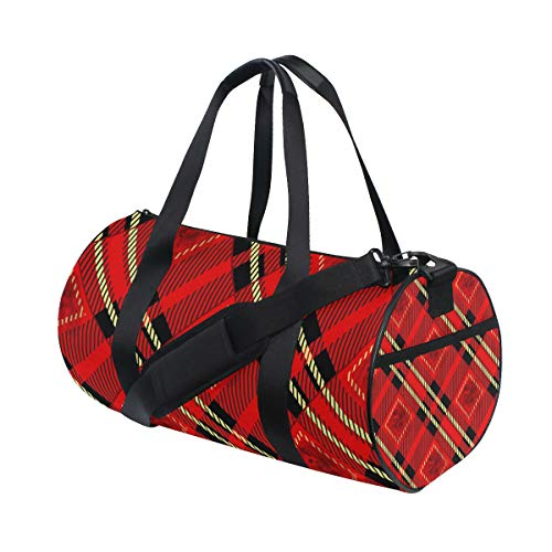 Ahomy - Bolsa de Deporte con diseño de Cuadros Escoceses