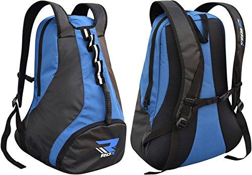RDX Fitness Borsa Zaino Impermeabile Borsa Sportiva, Unisex, Fitnesstasche Rucksack Wasserdicht, Blau, 56 x 33 x 20 cm