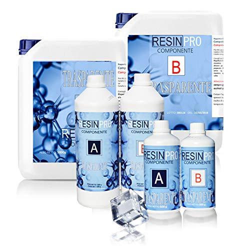 Resina epoxi, Ultra transparente 2-K kg1,6con B-Super transparente efecto agua para creación...