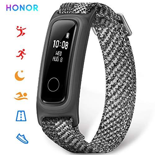 HONOR Band 5 Smartwatch Fitness Armband mit Anruferinnerung und Datenerkennung Fitness Tracker Uhr Wasserdicht IP68, Schlafmonitor, Sportuhr Schrittzähler für Damen Herren (grau)