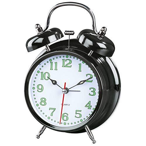 Hama Nostalgia Quartz Table Clock Schwarz Rund
