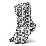 QUEMIN 100% That Witch, Dna Test Socks Calzini classici sportivi per il tempo libero 30 cm / 11,8 pollici Adatto per uomo Donna Calzini in cotone casual Calzini per equipaggio Calzini sportivi