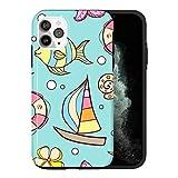 Ship KU075_1 Coque de protection pour iPhone 12 Mini Design tendance Double couche PC rigide et...
