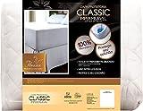 Protetor de Colchão Impermeável Classic Slip Malha Solteiro Superior Fibrasca Branco 90x190