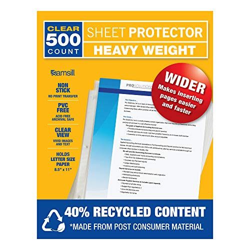 Archival Recycled Sheet Protector - 3