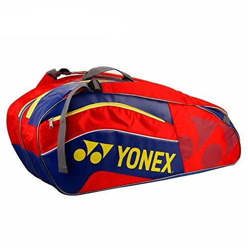 Yonex Schlägertasche Active Series Racket Bag 6er, rot, 75 x 24 x 32 cm, 58 Liter, BAG8526EX-rdbl