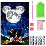 Kit de pintura de diamante 5D para niños, kit de arte de diamante redondo para adultos, pintura de diamante de cristal para decoración del hogar, regalos (tamaño del lienzo: 40 cm x 30 cm)