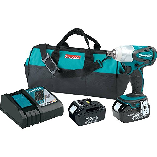"Makita XWT05 18V LXT Lithium-Ion Cordless 1/2"" Sq. Drive Impact Wrench Kit (3.0Ah)"