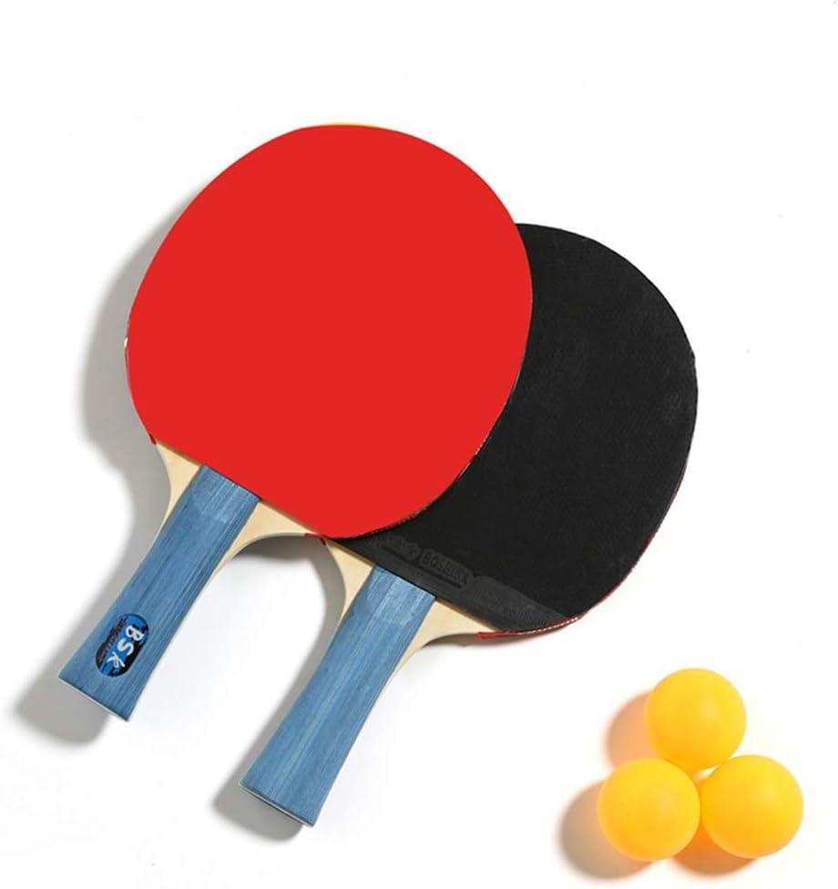 SHJMANPP Deportes Ping Pong Table Tenis De Mesa Pala Ping Pong Deportes Principiantes Juego Palo Raqueta Rotación Y Control Óptimos Deportes Velocidad Fitness, Blue
