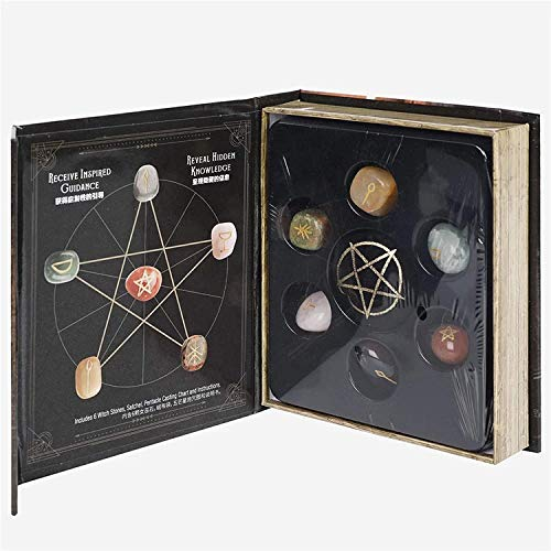 Namvo Caja de 6 piedras de cristal de chakra, piedras de bruja,...