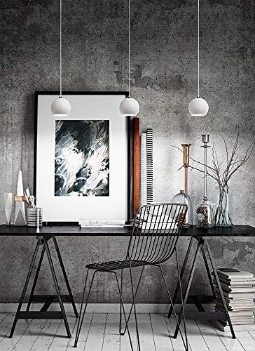 Sospensione In Metallo Verniciato Bianco Art 6424B
