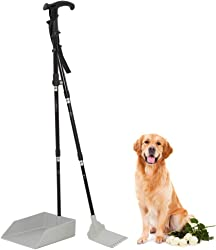 Living Express Dog Pooper Scooper - 37  Large Poop Scooper Tray and Rake Set Long Handle for Pet Waste Pick Up