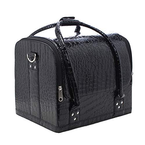 Doubleblack Grande Beauty Case Borsa Valigetta Make up Valigia Porta Trucchi Estetista Organizer Rigido Nero