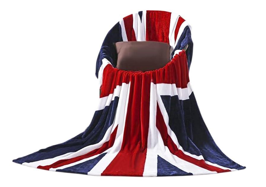 ピン呼ぶ週末毛布 ふわふわ ブランケット フランネル イギリス 国旗柄 ユニオンジャック 多機能 タオルケット 欧米風 軽量 洗える 乾きやすい 柔らかい シングル 寝具 コンパクトやさしい肌触り 掛布団 ベッドシーツ 150*200cm A型