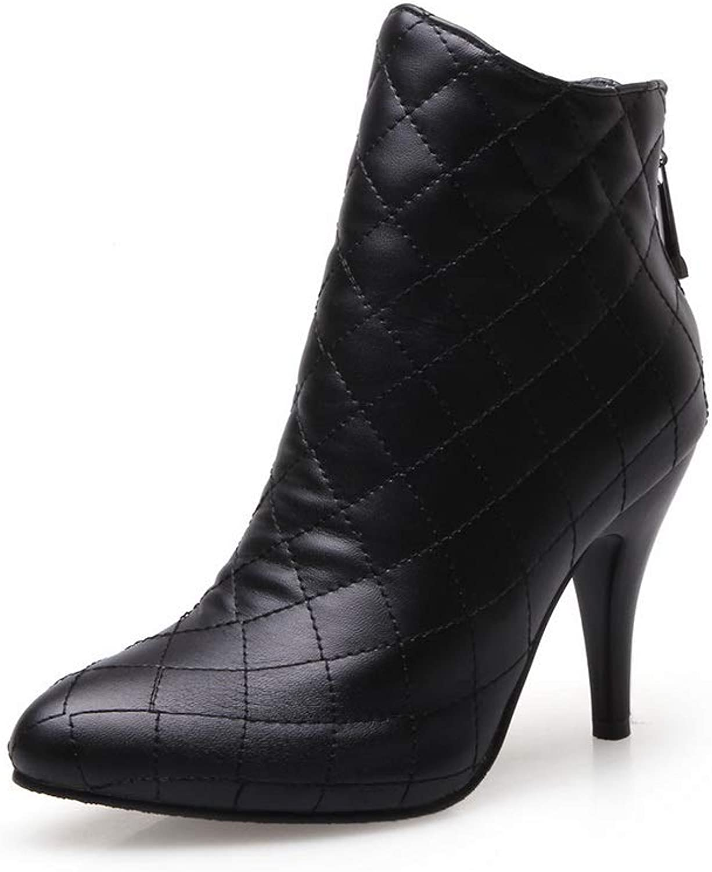 AdeeSu Womens Boots Plaid Travel Urethane Boots SXC03014
