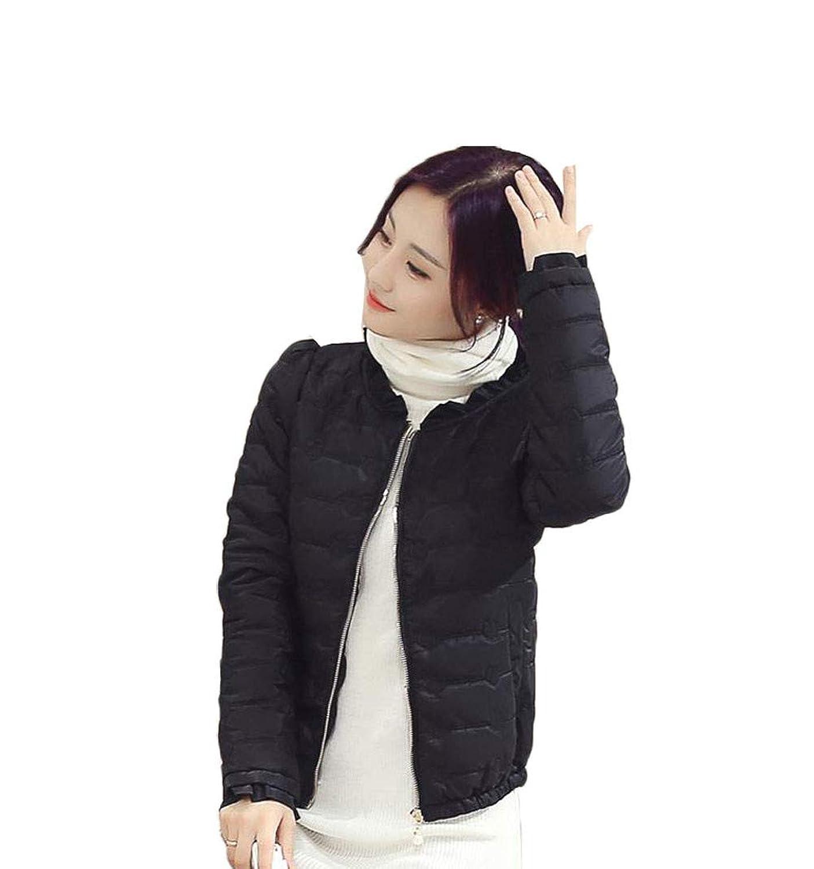 [ふーふうん] レディース 防寒 あったか スカラップ キルティングジャケット 中綿 軽量 アウター ダウン ジャケット コート トップス