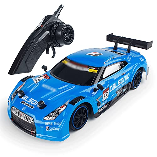 NAMFZX 1:18 Coche de control remoto de alta velocidad Tracción en las cuatro ruedas Rápido Off-road Drift Racing Niños cargando RC Boy Vehículo de juguete de carreras de camiones eléctrico favorito Me