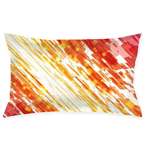 Wfispiy Funda de Almohada de Tiro Fondo de líneas de Techno Abstracto Funda de Almohada Decorativa Funda de Almohada de 20
