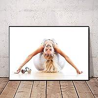 セクシーなポスター女性のトレーニングポスターホームジムの装飾動機付けの壁アートパネルフィットネスポスターインスピレーションを与えるポスタージムの壁ポスターキャンバスアートパネル40x60cm /フレームなしI238