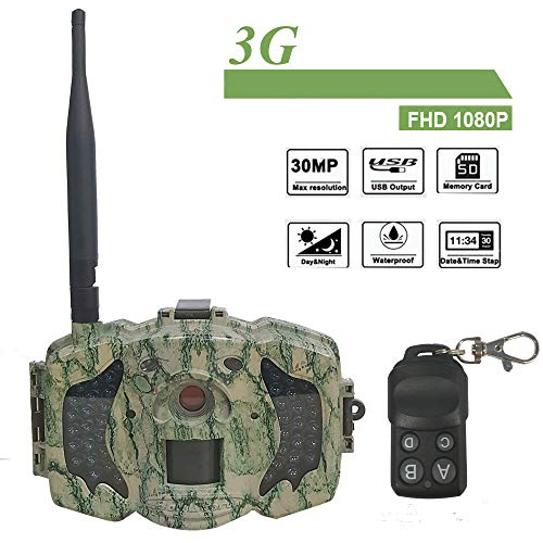 Bolyguard 3G Cellular Trail Game Camera WiFi GSM SMS MMS GPRS with Infrared Night Vision Motion Activated 30MP 1080P Hunting & Scouting Camera +Wireless Remote Control (MG983G-30M)