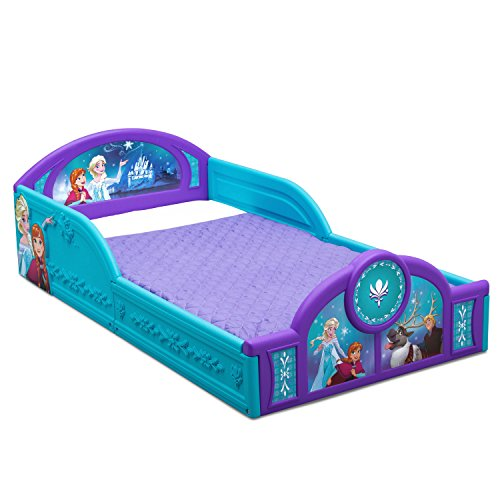 Disney Frozen Molded Plastic Toddler Bed with Attached Guardrails