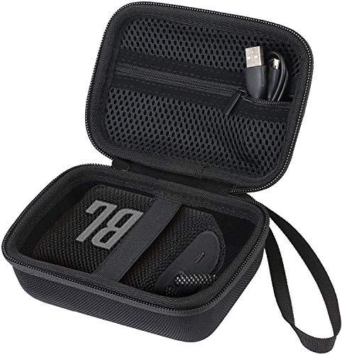 Khanka Duro Viaje Estuche Bolso Funda para JBL GO 3 Altavoz inalámbrico portátil Bluetooth - Negro