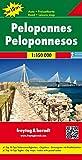 Peloponnes, Autokarte 1:150.000, Top 10 Tips (freytag & berndt Auto + Freizeitkarten)