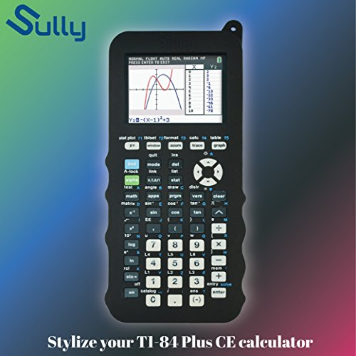 Silicone Case for Ti 84 Plus CE Calculator (Black) - Cover for Texas Instruments Ti-84 Graphing Calculator - Silicon Skin for Ti84 Plus - Protective & Anti-Scretch Cases - Ti 84 Accessories by Sully Photo #8