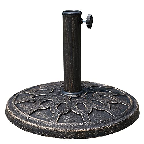 ZBF Best Choice Products - Soporte para sombrilla de acero para patio, jardín, césped con acabado rústico, resistente al óxido, color bronce