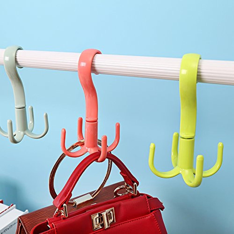 U-emember 360-Degree Swivel Hook More Than 4 Hooks Racks shoes Rack-Mount Bracket 4 Debris Claw Hook, Is Pink
