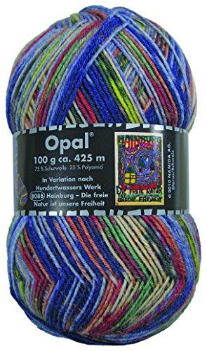 Opal Sockengarn Hundertwasser III - 4 fach 808B Hainburg-Die freie Natur ist unsere Freiheit