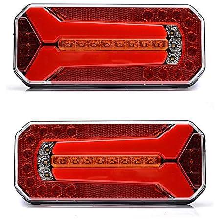 2x Rücklicht Led Rückleuchten Rückleuchten Multifunktions Led Rückleuchten Mit Dynamikanzeige E20 Prüfzeichen Ece Geprüft Auto
