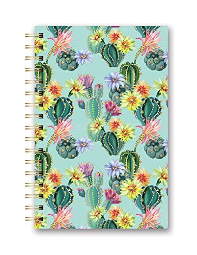 Medium Spiral Planner 2020-2021 in Desert Blossoms by Orange Circle Studio - 6' x 8' 17-Month Hardcover with Year, Month & Weekly Date Views Plus Spending Logs, Goal Lists, Task Reminders & More