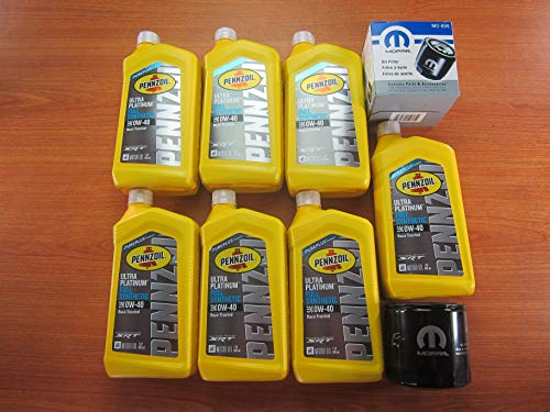 SRT Engine Penzoil Ultra Platinum Full Synthetic 0W-40 Oil 7 Qts.With Oil Filter