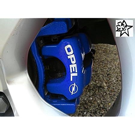 Myrockshirt Opelaufkleber 4 X Bremsenaufkleber Bremsen Aufkleber Bremssattel Hitzebeständig Decals Stickers Estrellina Glücksstern Auto