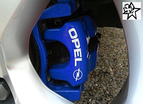 OPEL 4 x Bremsenaufkleber Bremsen Aufkleber Bremssattel Hitzebeständig DECALS STICKERS von myrockshirt ® estrellina Glücksstern