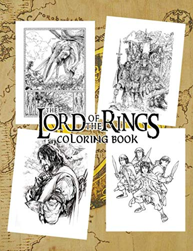 The Lord Of The Rings Coloring Book: Perfect Gift For LOTR Adults Fan With Amazing Artwork