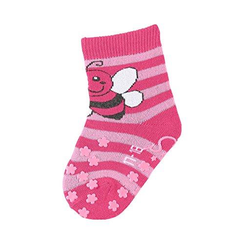 STERNTALER Les chaussettes antidérapantes Abeille chaussettes bébé chaussettes hautes, taille 15/16, rose vif