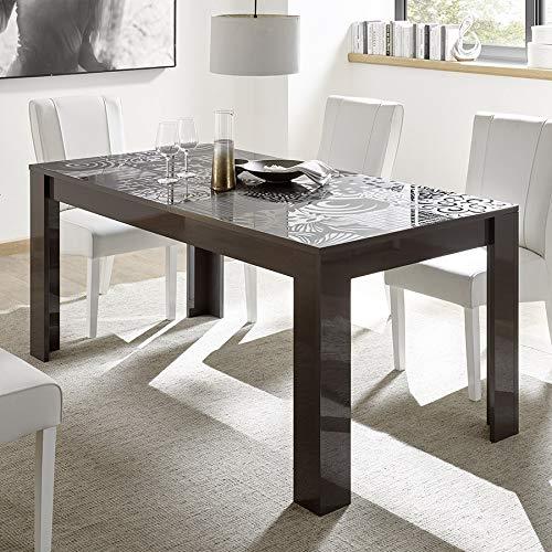 M-012 Table de Repas Gris laqué Design 180 cm ELMA 2