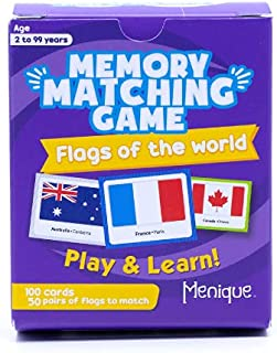 Menique, Flags of The World, Memory Matching Game