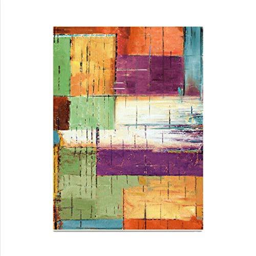 WZHZJ Vintage Colorido de la Manera del Estilo de alfombras for la Sala de Estar Decoración Alfombra Antideslizante Sofá Tapetes 100X160cm