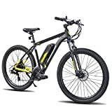ROCKSHARK Electric Bike Electric Mountain Bike Aluminum E-Bike 26 inch 350W 20MPH Adults Ebike Shimano 21 Speed Disc Brake Suspension Fork with 36V 10.4Ah Removable Battery